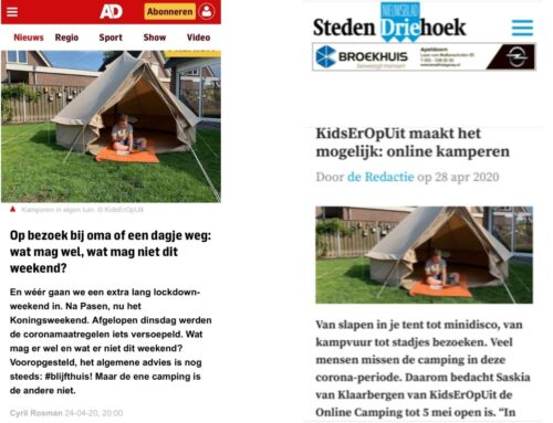 In de media: KidsErOpUit Camping